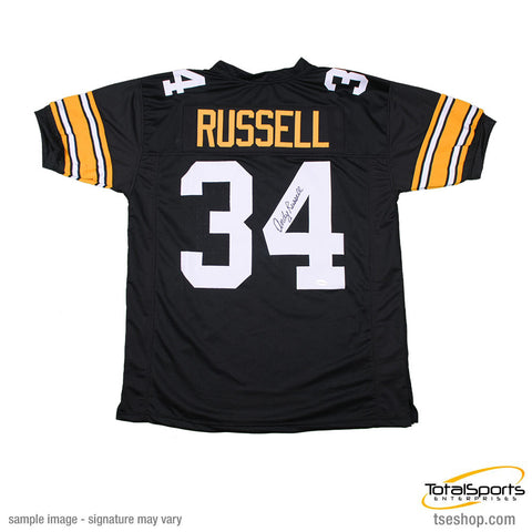 Andy Russell Autographed Black Custom Jersey