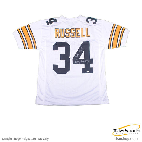 Andy Russell Autographed White Custom Jersey Insc. 'SB IX, X'