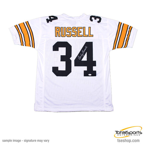 Andy Russell Autographed White Custom Jersey