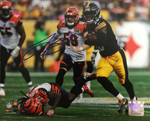 Le'Veon Bell SIGNED Running Over Kirkpatrick 8x10 Photo