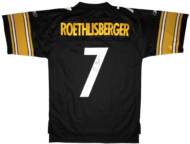 Ben Roethlisberger Autographed Pittsburgh Steelers Black Authentic Reebok (M+2) Jersey