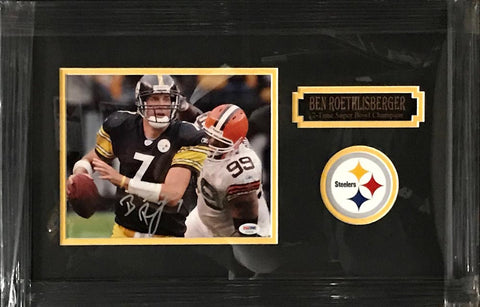 Ben Roethlisberger Autographed Against Browns 8x10 Professionally Framed