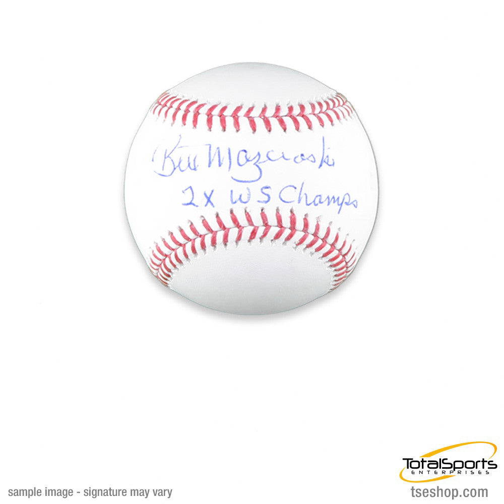 Bill Mazeroski Official MLB Baseball - Autographed and inscribed '2X WS Champ'
