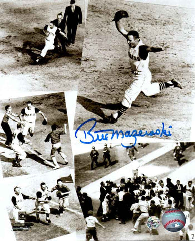 Bill Mazeroski Autographed Homerun Collage 11x14 Photo