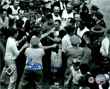Bill Mazeroski Autographed Mobbed at Home Plate 11x14 Photo