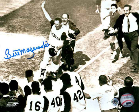Bill Mazeroski Autographed Pre-Mobbed Horizontal 16x20 Photo