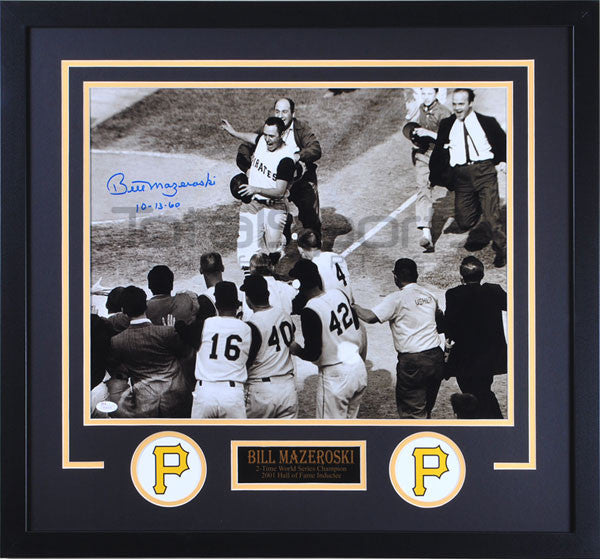 Bill Mazeroski Horizontal Premob Signed 16x20 Inscribed 10-13-60