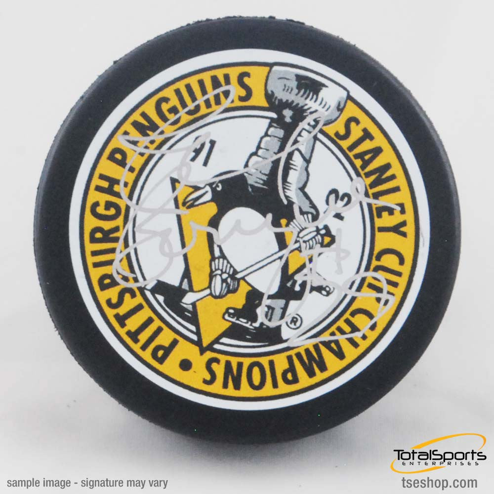 Phil Bourque Autographed 91-92 SC Throwback Puck