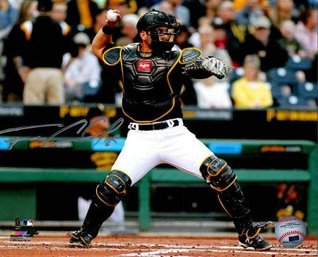 Francisco Cervelli Signed Throwing with Mask On 16x20