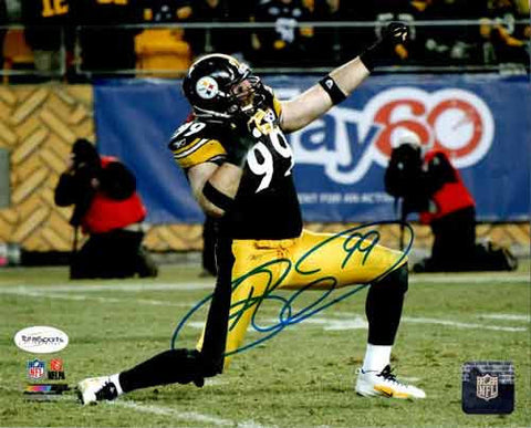 Brett Keisel Autographed Bow and Arrow 16x20 Photo