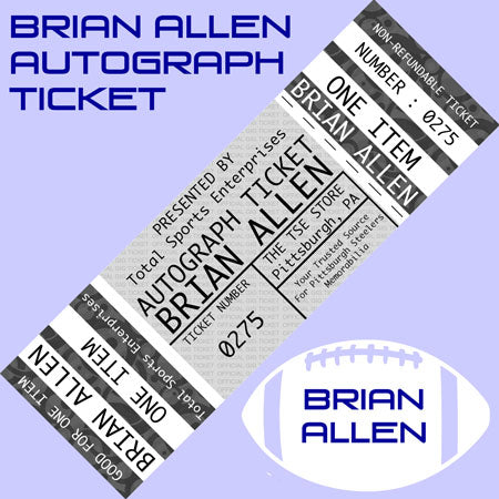 AUTO-TICKET: Get ANY Item Signed IN PERSON by BRIAN ALLEN - INCLUDES ONE (1) FREE INSCRIPTION