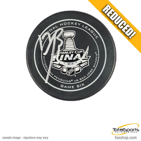 Bryan Rust Autographed 2016 Stanley Cup Game Model Puck - Game 6