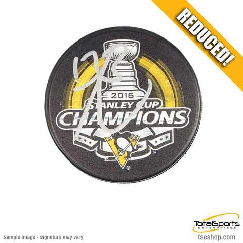Bryan Rust Autographed 2016 Stanley Cup Logo Puck