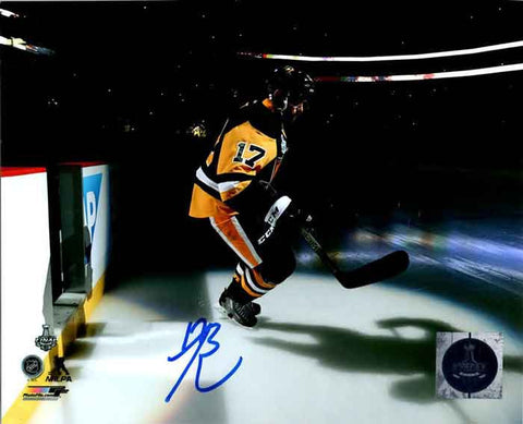 Bryan Rust Autographed Game Entrance 8x10