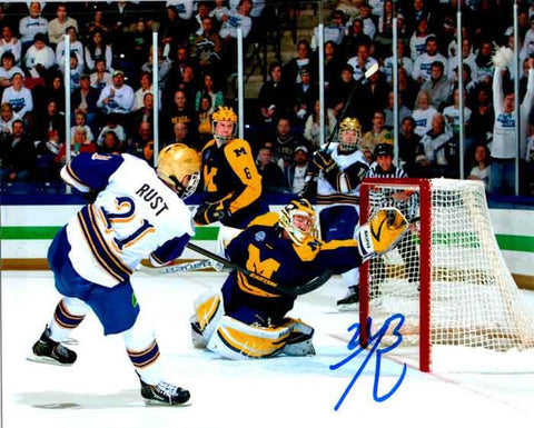 Bryan Rust Autographed ND Shooting Puck 8x10