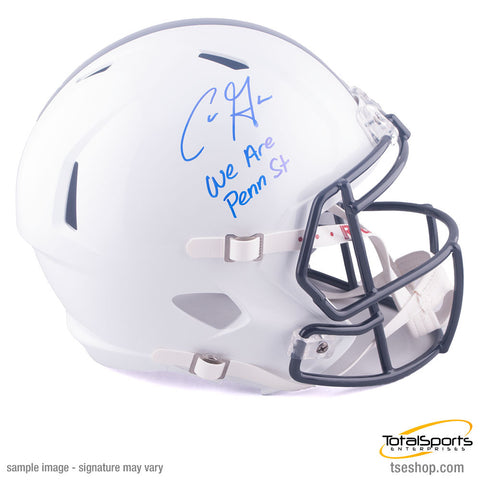 Chris Godwin Autographed White Penn State Full Size SPEED Helmet with We Are Penn State