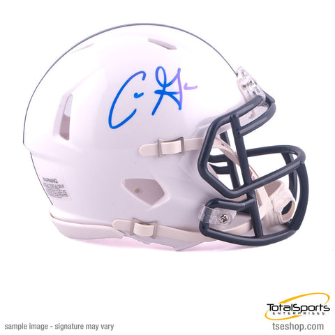 Chris Godwin Autographed White Penn State Mini SPEED Helmet