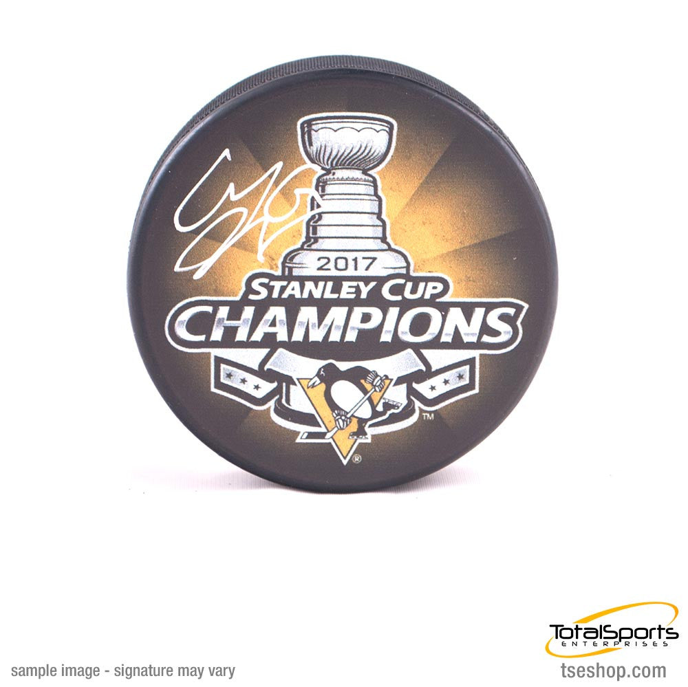 Carl Hagelin Autographed Pittsburgh Penguins 2017 Stanley Cup Champions Puck