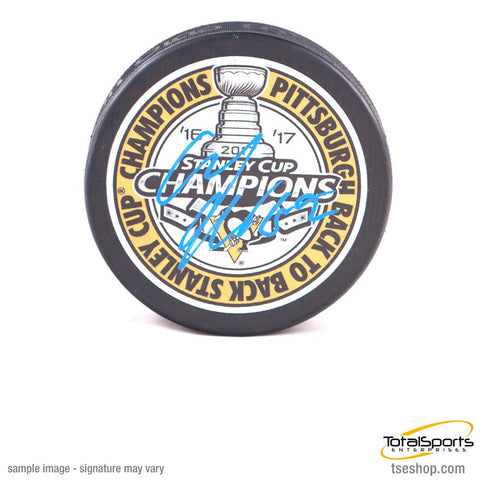 Carl Hagelin Autographed Back-to-Back SC Champs Puck
