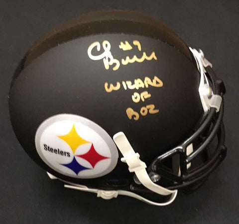Chris Boswell Signed Black Mini Helmet with Wizard of Boz