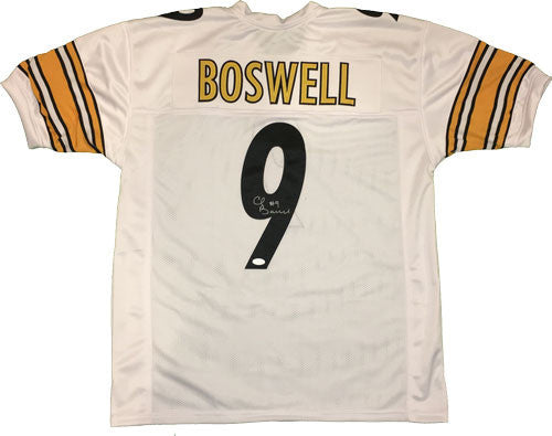 Chris Boswell Signed Steelers Custom Authentic-Style White Jersey