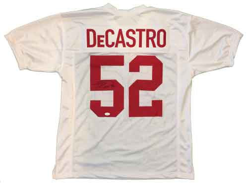 David DeCastro Autographed Stanford White Custom Jersey