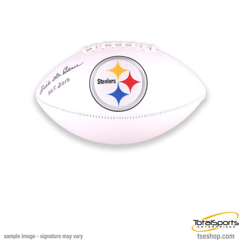 Coach Dick LeBeau Autographed White Steelers Football inscribed 'HOF 2010'