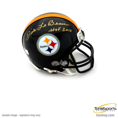 Coach Dick LeBeau Autographed Pittsburgh Steelers Black Mini Helmet inscribed 'HOF 2010'