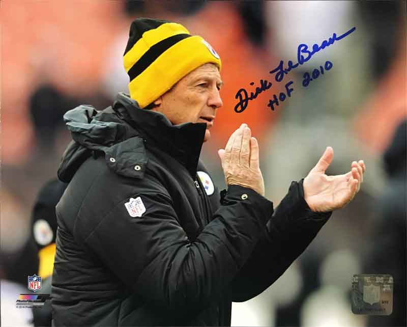 Dick LeBeau Autographed Clapping 16x20 Photo with Inscribed HOF 2010