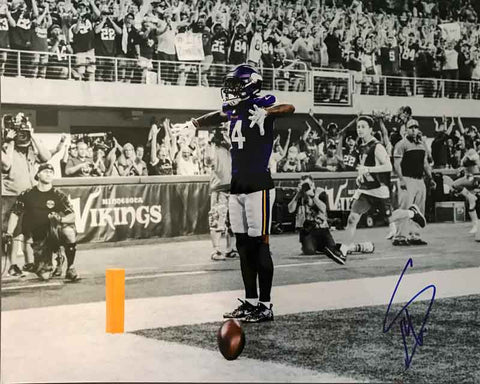 Stefon Diggs Autographed TD Celebration Custom 16x20 Photo - Metallic Paper