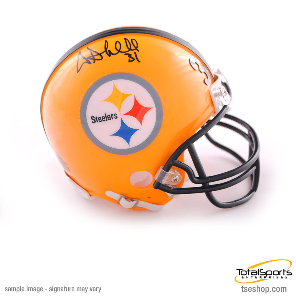 Donnie Shell Autographed Pittsburgh Steelers 75th Anniv. Mini Helmet