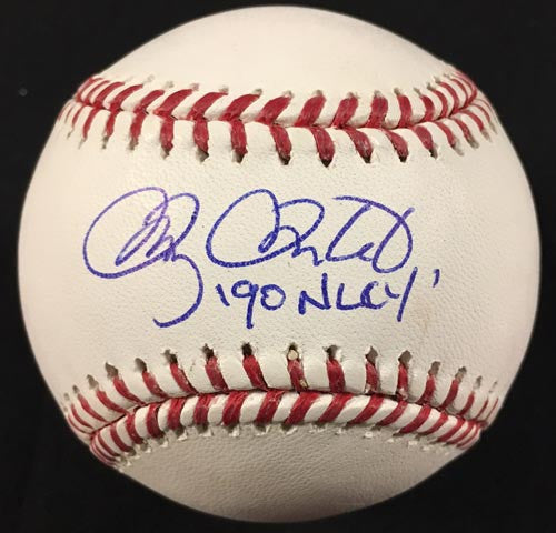 Doug Drabek Signed Official Rawlings MLB Baseball with 90 NLCY