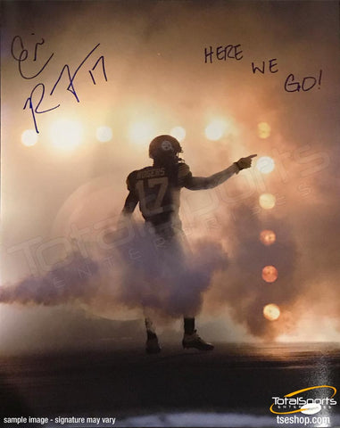 Eli Rogers Autographed Pointing in Fog 16x20 Photo with