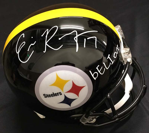 Eli Rogers Signed Black Replica Full-Size Helmet