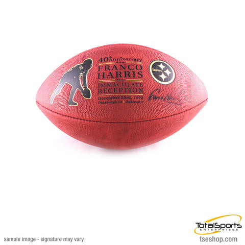 Franco Harris 40th Anniversary Immaculate Reception Football