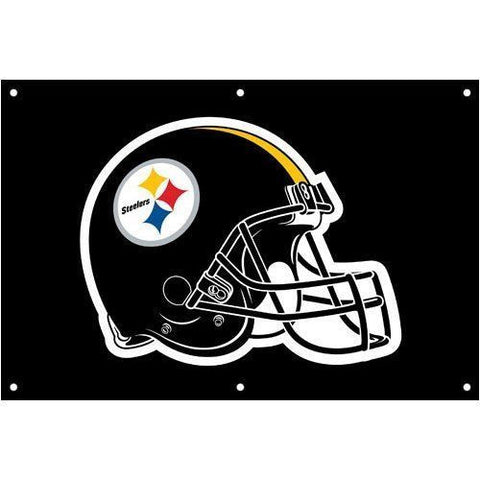Steelers 2' x 3' Black Fan Banner