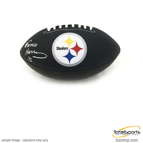 Franco Harris Autographed Black Matte Football