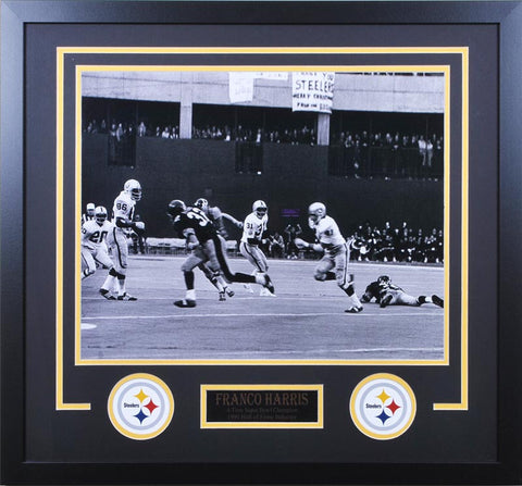 Franco Harris Immaculate Reception Wide Angle 16x20 Unsigned - Professionally Framed