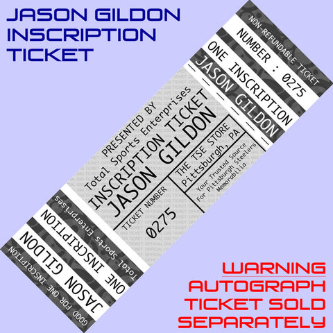 INSCRIPTION-TICKET: Good For One Custom Inscription by JASON GILDON (Autograph Ticket Sold Separately)