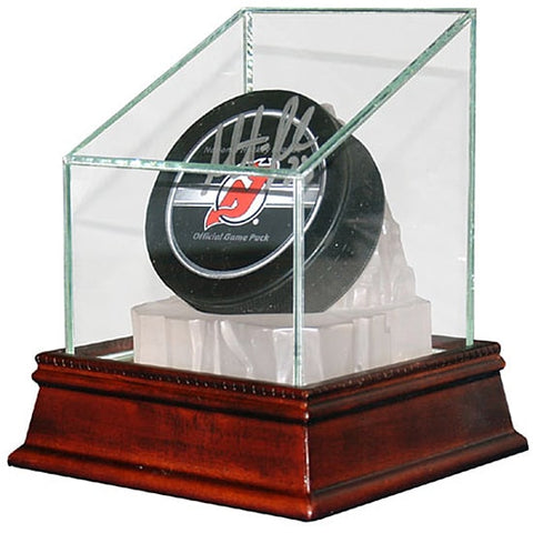 Single Hockey Puck Glass Display Case