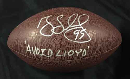 Greg Lloyd Autographed Replica Football with Avoid Llyod