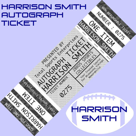 AUTOGRAPH TICKET: Good For One Signature on ANY ITEM from HARRISON SMITH