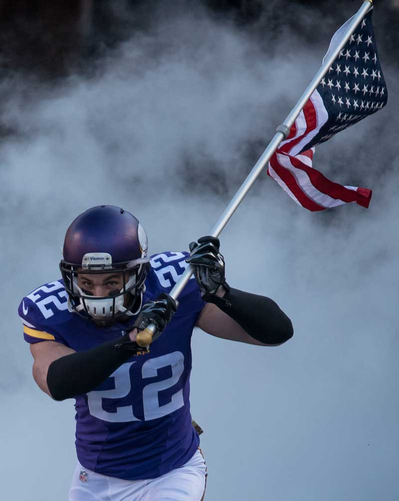 PRE-SALE: Harrison Smith Autographed Entrance with Flag 16x20 Photo