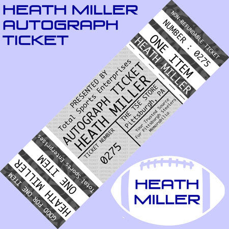 AUTOGRAPH TICKET: Get YOUR Small Flat Up To 11x14 Signed IN PERSON by Heath Miller