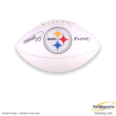 Heath Miller Autographed White Logo Football Inscribed
