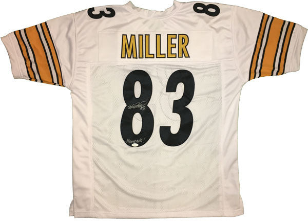 Heath Miller Autographed Pittsburgh Steelers White Custom Jersey with Heeeaath