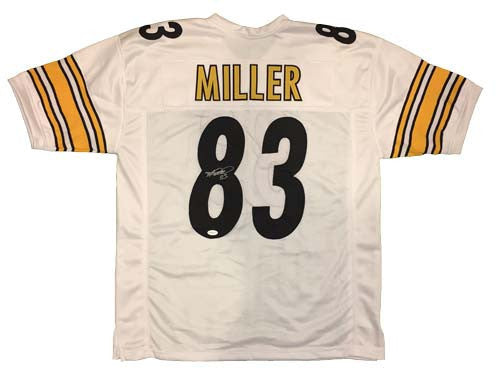 Heath Miller Autographed Pittsburgh Steelers White Custom Jersey