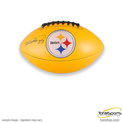 Heath Miller Autographed Yellow Logo Football