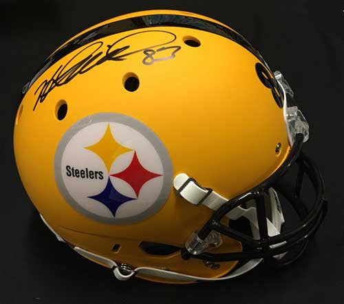 Heath Miller Autographed Yellow Schutt Full Sized Replica Helmet