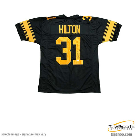 Mike Hilton Signed Custom Holiday Football Jersey with